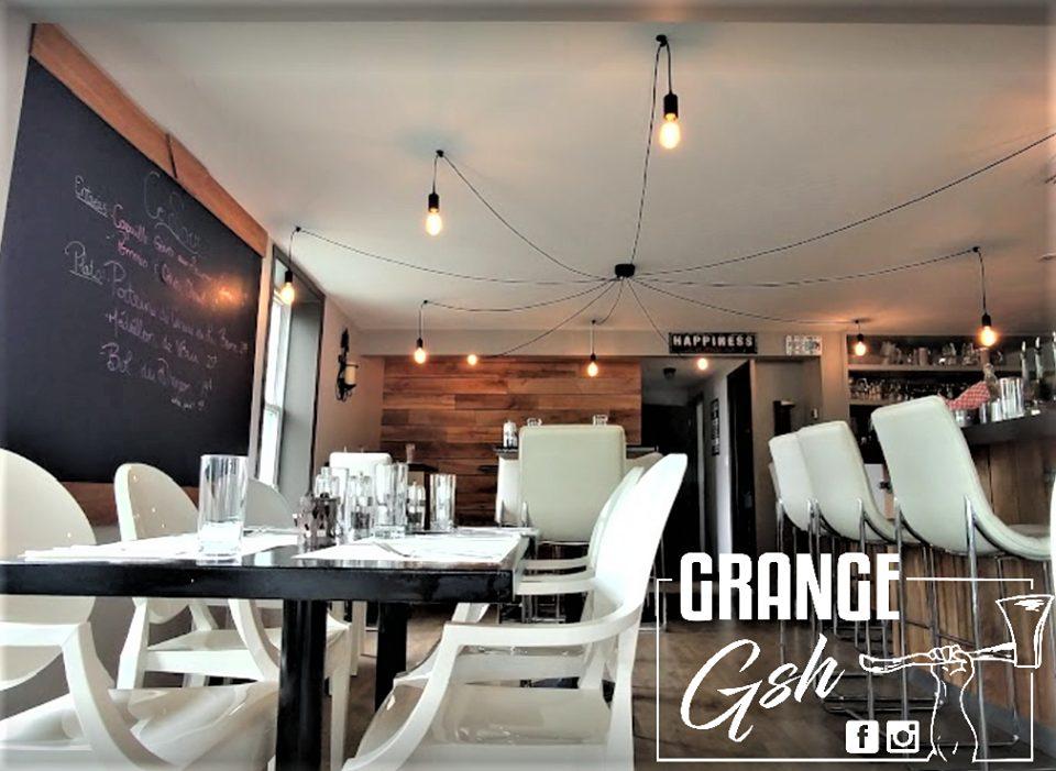 image restaurant réalisation bois de grange murale