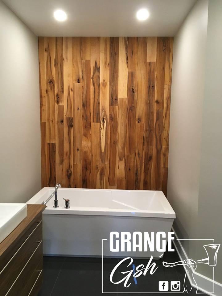 image salle de bain réalisation bois de grange murale