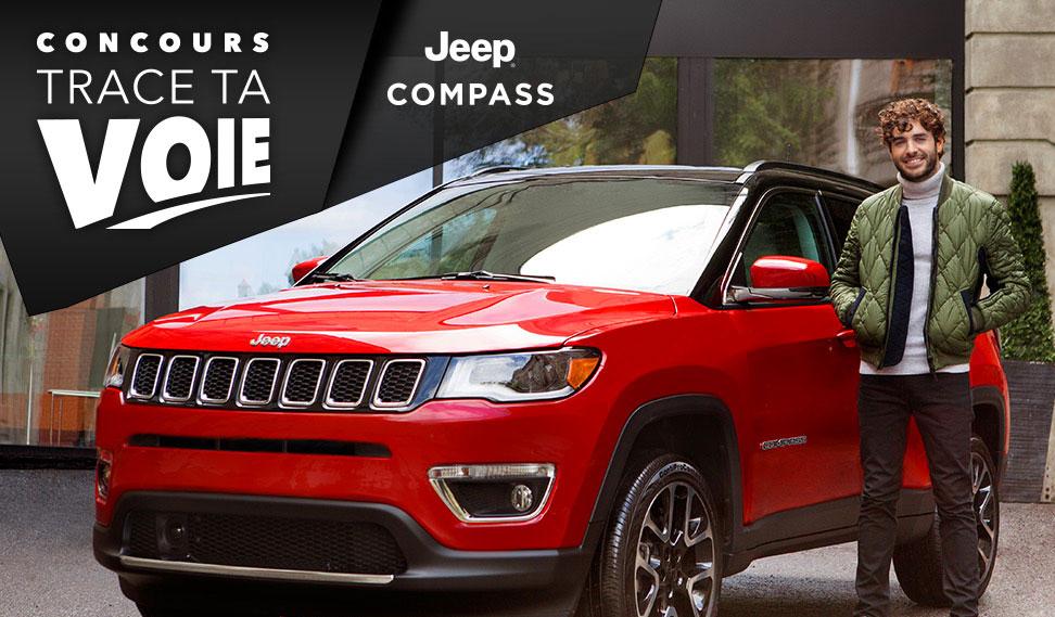 Concours - GAGNER un Jeep Compass 2018 valeur de 38500$