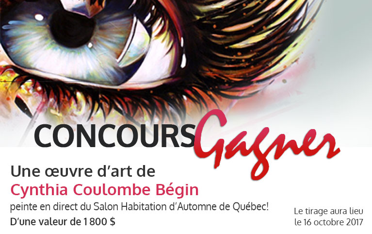 Concours - GAGNER une œuvre d'art de Cynthia Coulombe Begin