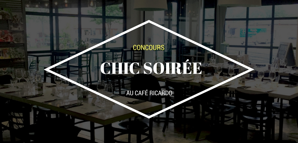 Concours Ricardo - Gagner une chic soirée au Café Ricardo