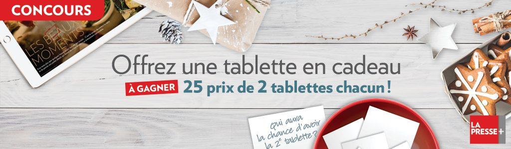 Concours Tablette La Presse