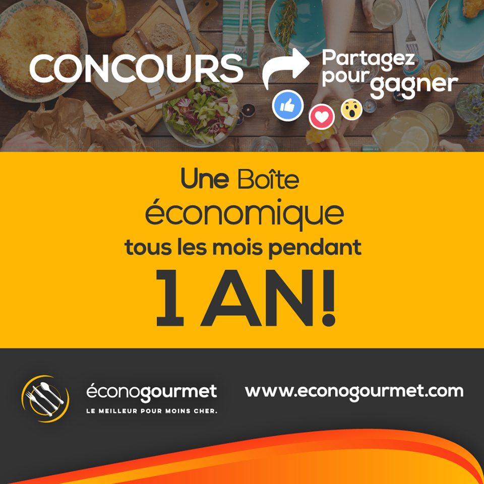 Concours Éconogourmet - Gagnez une boîte économique tous les mois