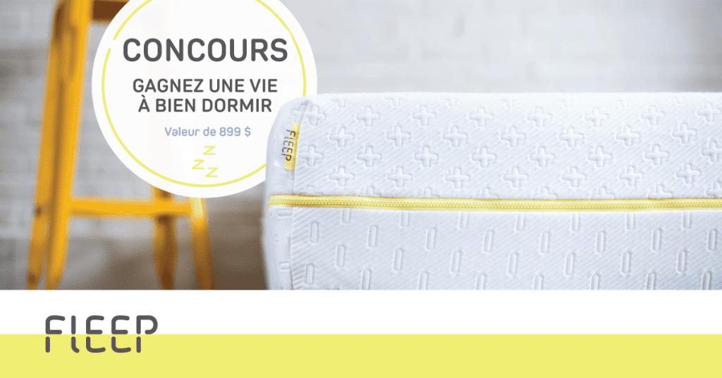 Concours Fleep - Gagnez un matelas queen en mousse mémoire!