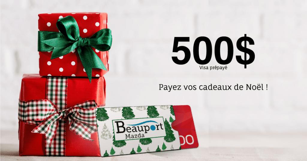 Concours Beauport Mazda - Gagnez une carte cadeau prépayé de 500,00$
