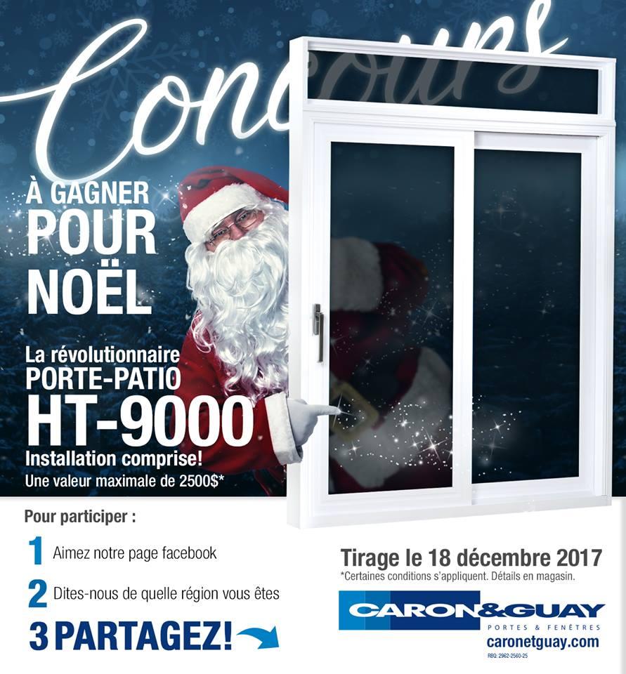 Gagnez une porte patio révolutionnaire HT-9000 offert par Caron et Guay