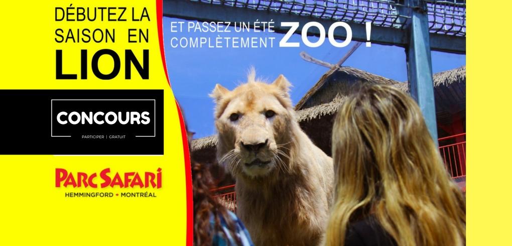 CONCOURS Gagnez votre passeports familial au Parc Safari !