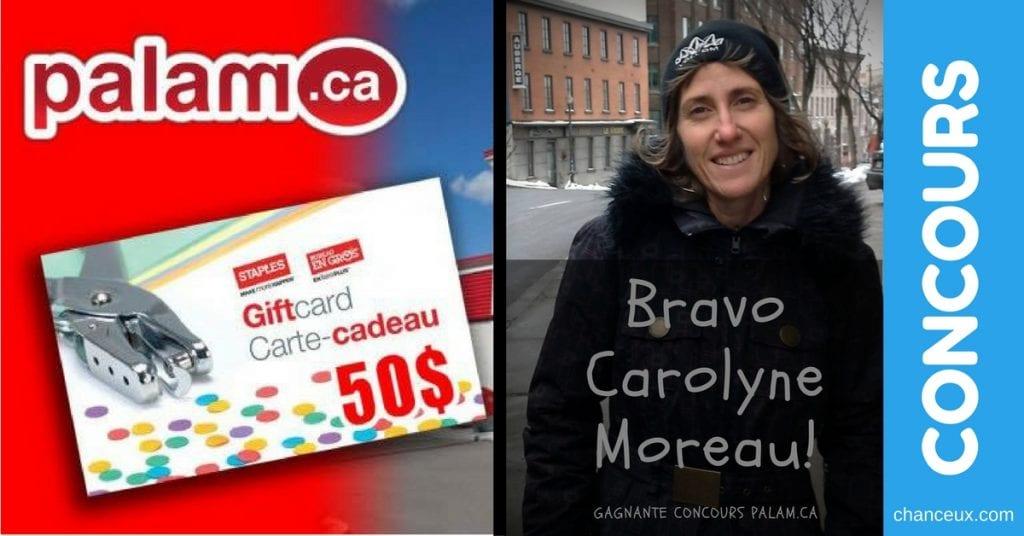 Carolyne moreau - photo gagnante concours chanceux du québec