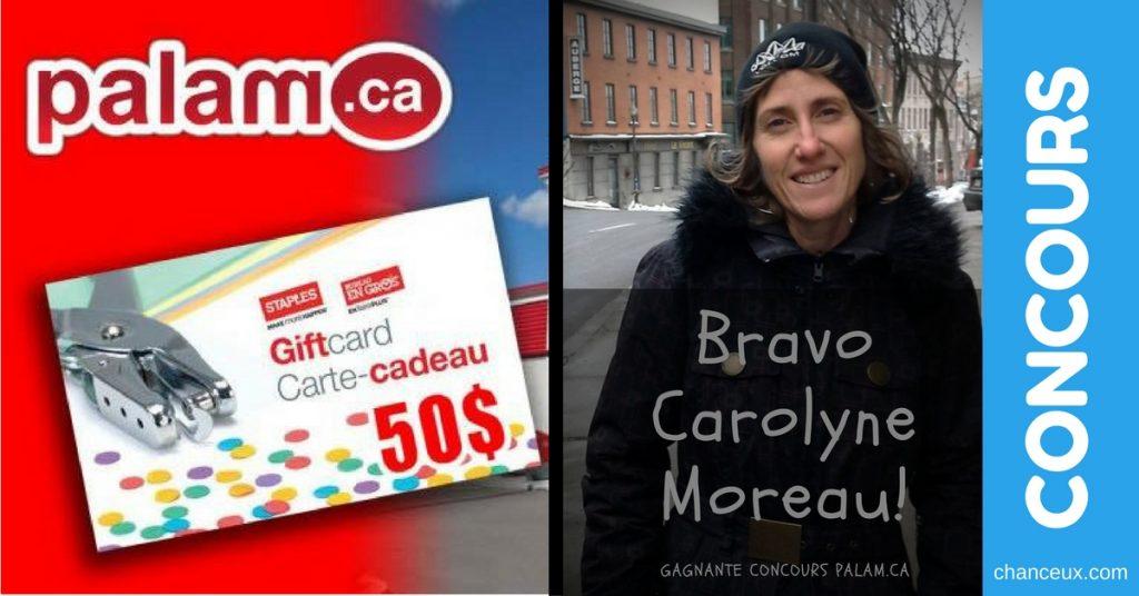 Concours palam.ca gagnez une carte cadeau de 50$ de bureau en gros