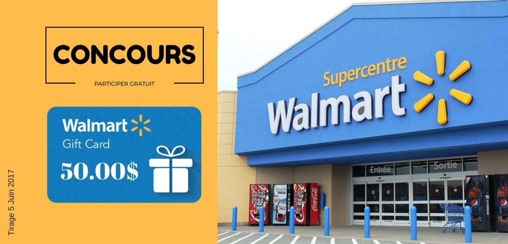 Concours La Recharge.ca - Gagner une carte-cadeau Walmart de 50$