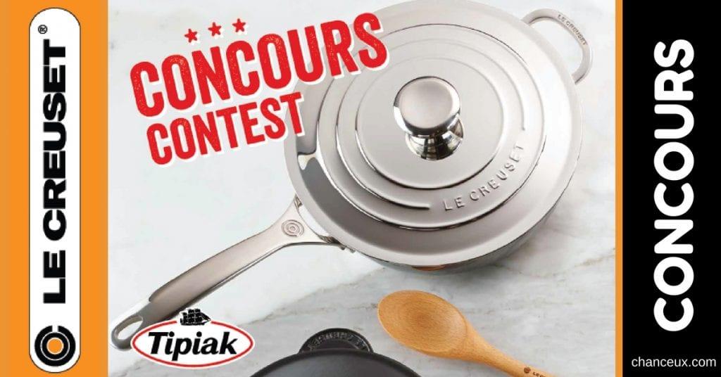 Concours Tipiak Canada - Courez la chance de gagner Le Creuset