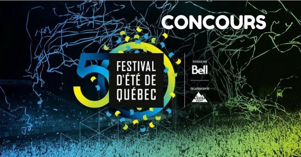Gagne tes laissez-passer pour le Festival d'été de Québec !