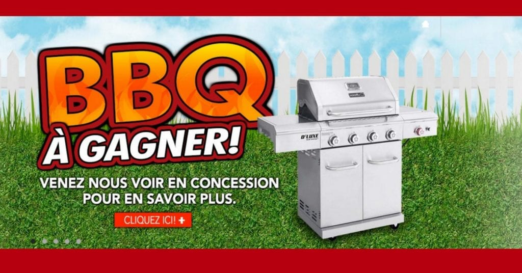 Gagne ton BBQ Nexgrill grâce à Toyota St-Jérôme