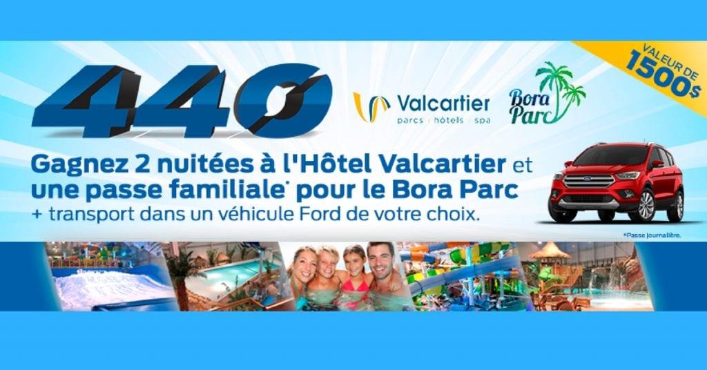 Gagner un séjour au parc aquatique intérieur Village Vacances Valcartier