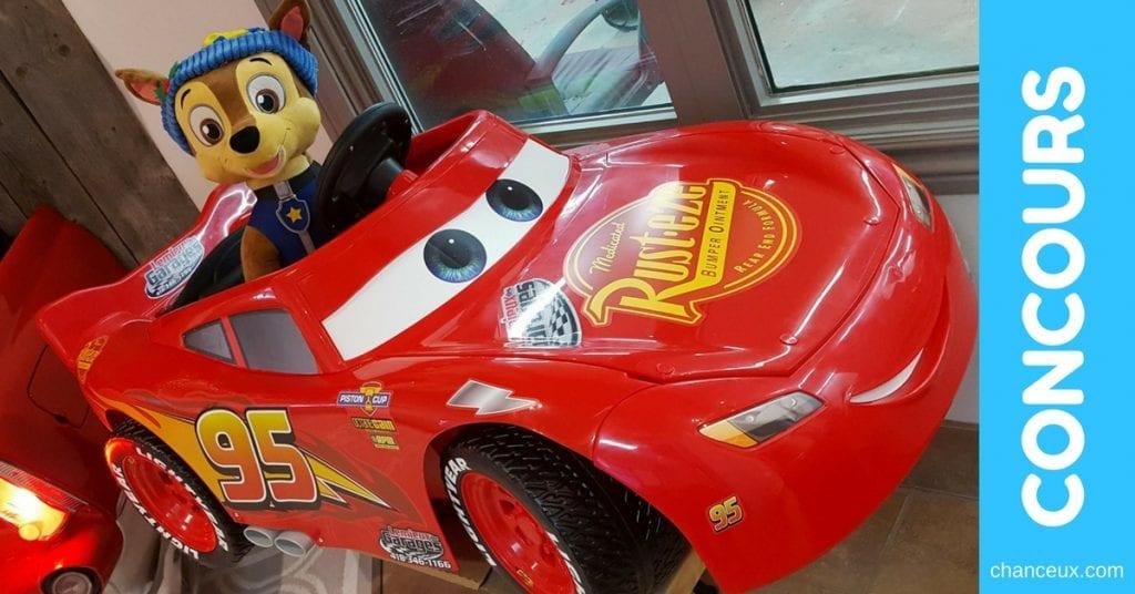concours Flash McQueen et Chase de la Pat Patrouille!