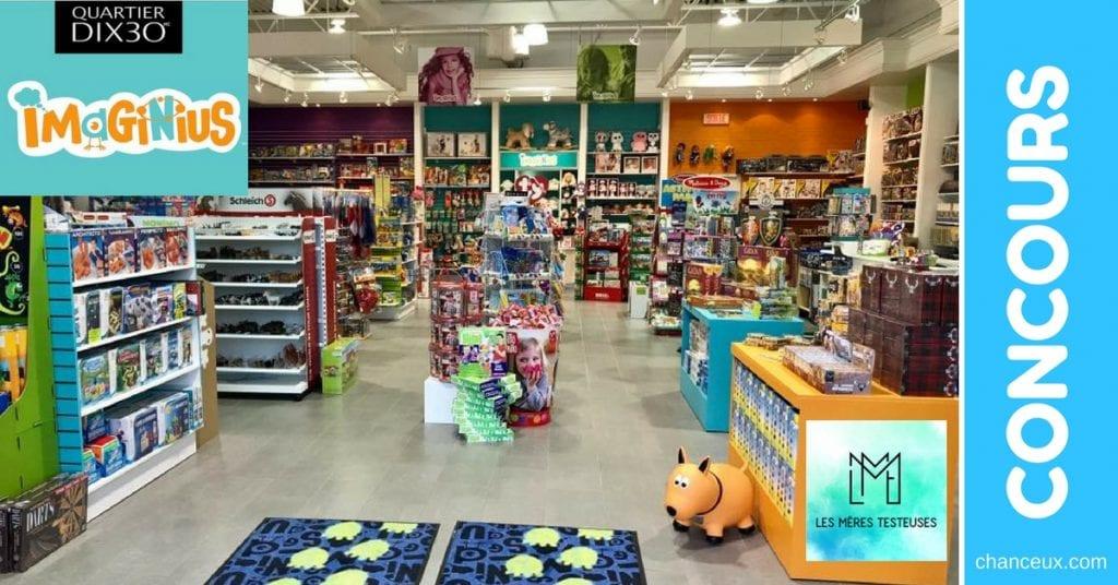 Gagnez une cartes-cadeaux 200$ chez Imaginius votre magasin de jouet!