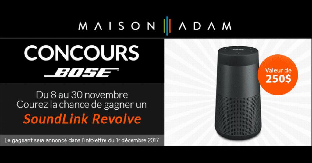 GagImage concours Bose Maison Adamnez 1 haut-parleur sans fil et bluetooth BOSE Revolve d'une valeur de 250 $