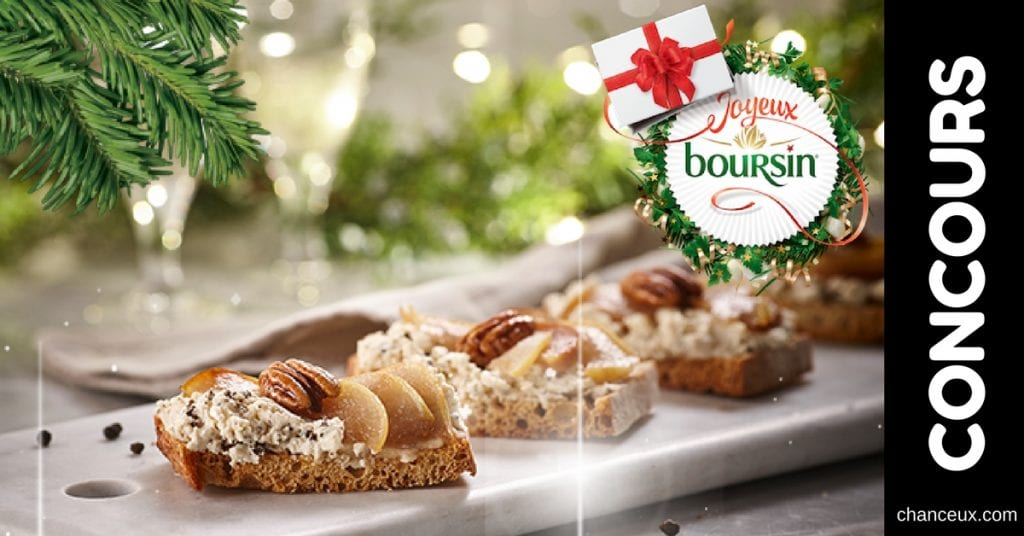Concours Boursin - Gagnez une boite festive tous les jours!