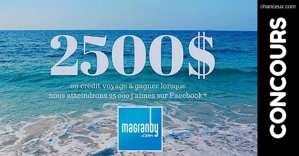 Image d'un Concours Ma Granby crédit voyage de 2500$
