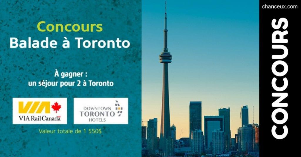 Image d'un Concours voyage via rail Toronto
