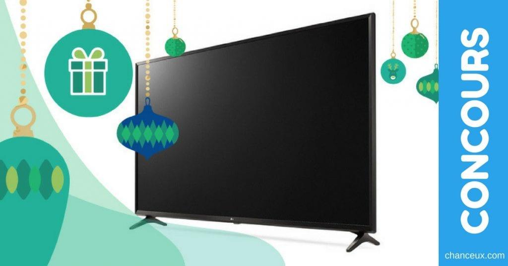 À gagner une télévision LG 4K de 49'' d'une valeur de 1,100$
