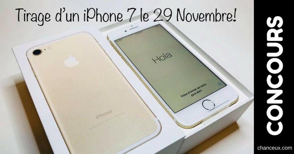 Concours Mobolab - Gagnez un iPhone 7 de chez Apple Store