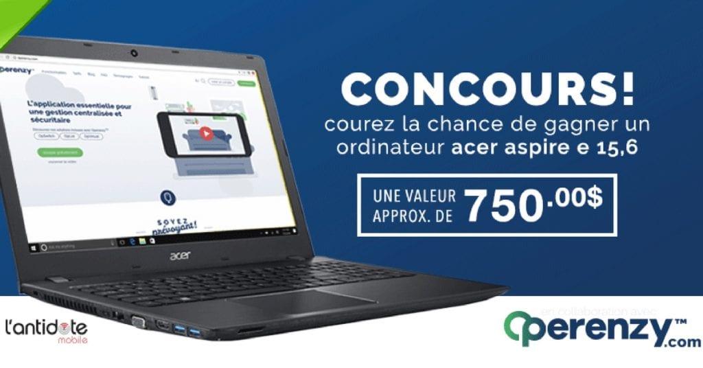 Image d'un concours ordinateur portable Acer