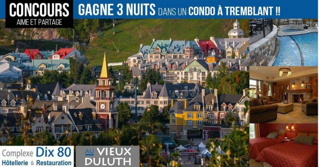 Gagnez 3 nuits dans la tour des voyageurs au Mont-Tremblant!