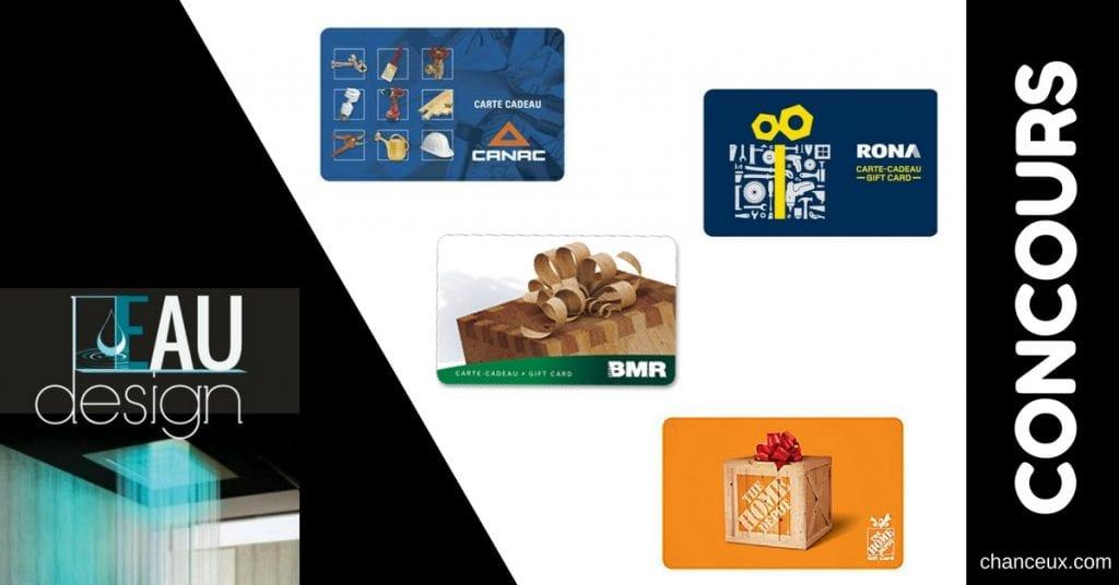 Gagnez 2 cartes-cadeaux de 50$ à la quincaillerie de votre choix