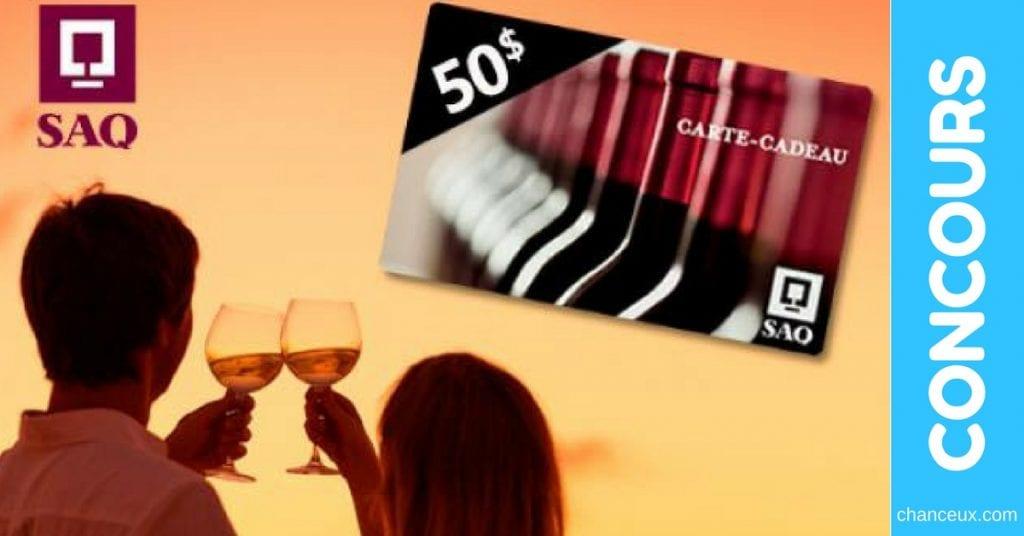 Gagnezune carte-cadeau d'une valeur de 50$ pour la SAQ
