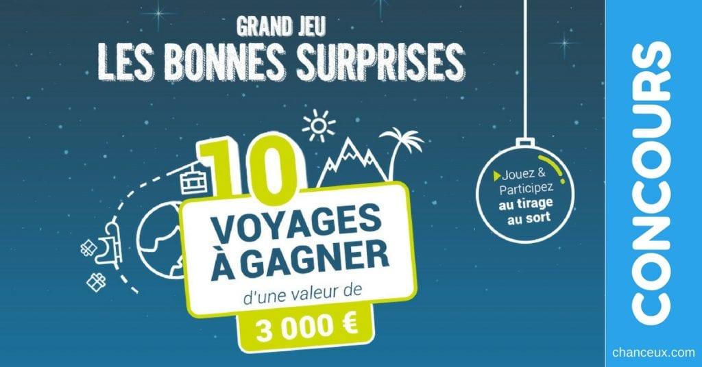 Concours C-ZAM - Gagner un de 10 voyages de 3000 €