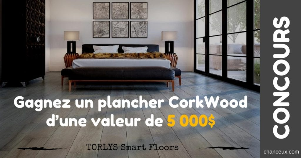 Gagnez un plancher CorkWoodd'une valeur de 5000$