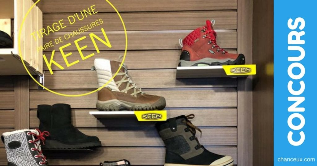 Concours Fourrures Grenier Boutique - Gagnez une paire de chaussures KEEN