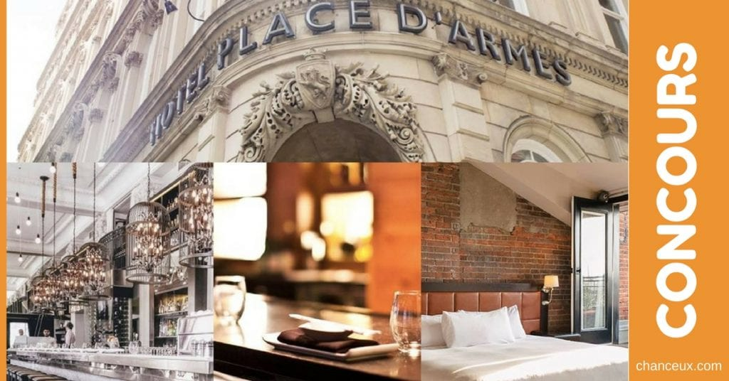 Gagnez un forfaitNuitée en suite junior à l'hôtel Place D'Armes & Suites