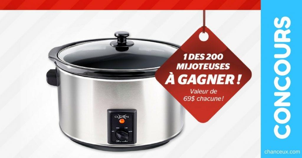 Gagnez 1 des 200 Mijoteuses offert par Brault & Martineau