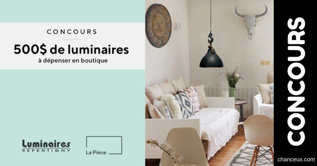 Image d'un concours web du Québec luminaire repentigny