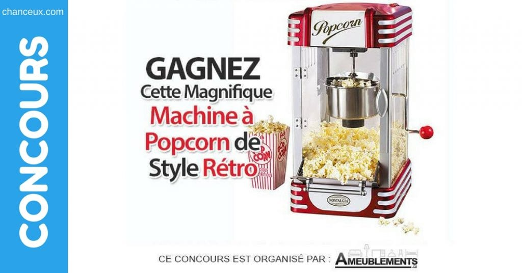 Image d'une Machine à Pop Corn style rétro de marque Nostalgia