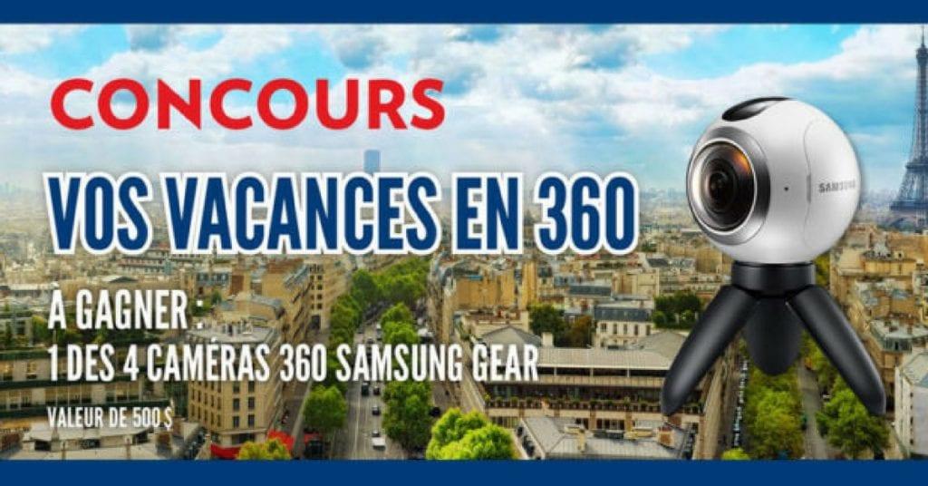 Gagner l'une des quatre caméras 360 Samsung Gear !
