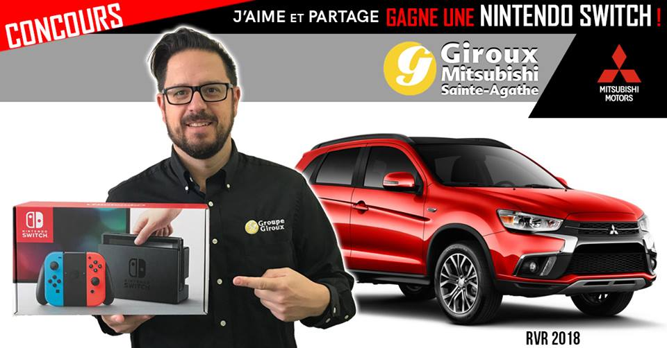 concours Mitsubishi - Une console Nintendo SWITCH!