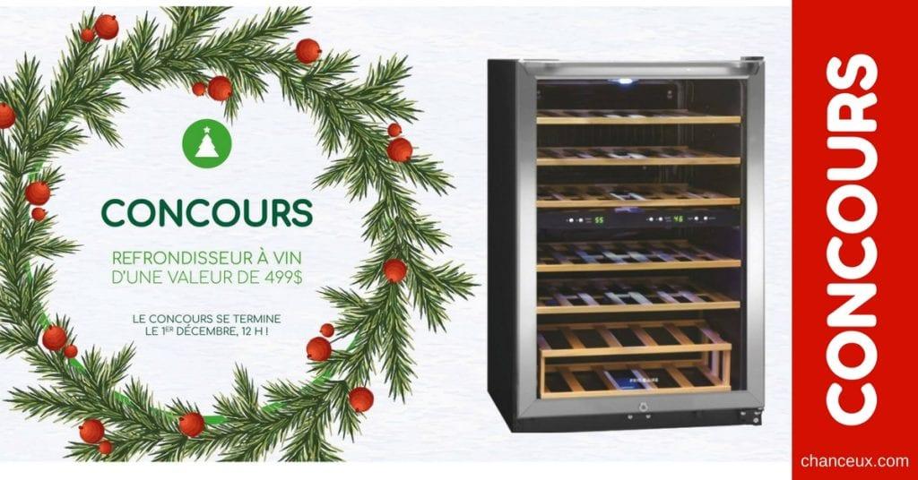 Gagnez un réfrigérateur à vin de marque Frigidaire d'une valeur de 499$!