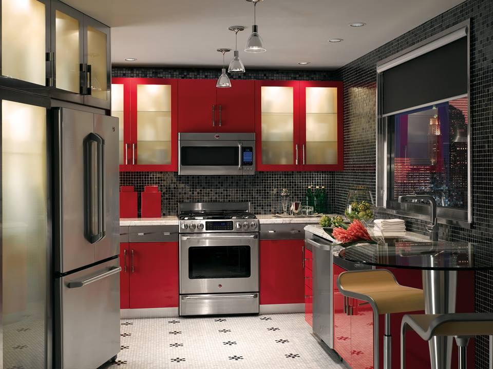 cuisine rouge chez Lévesque Électroménagers