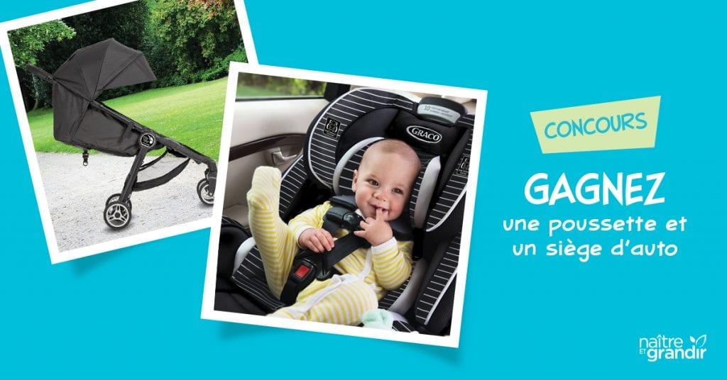 CONCOURS - Gagnez une poussette et un siège d'auto d'une valeur de 750$.