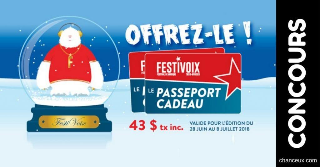 CONCOURS Gagnez 2 passeport pour le Festivoix de Trois-Rivières!