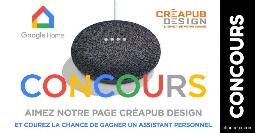 CONCOURS Gagnez LE NOUVEAU Google Home Mini!