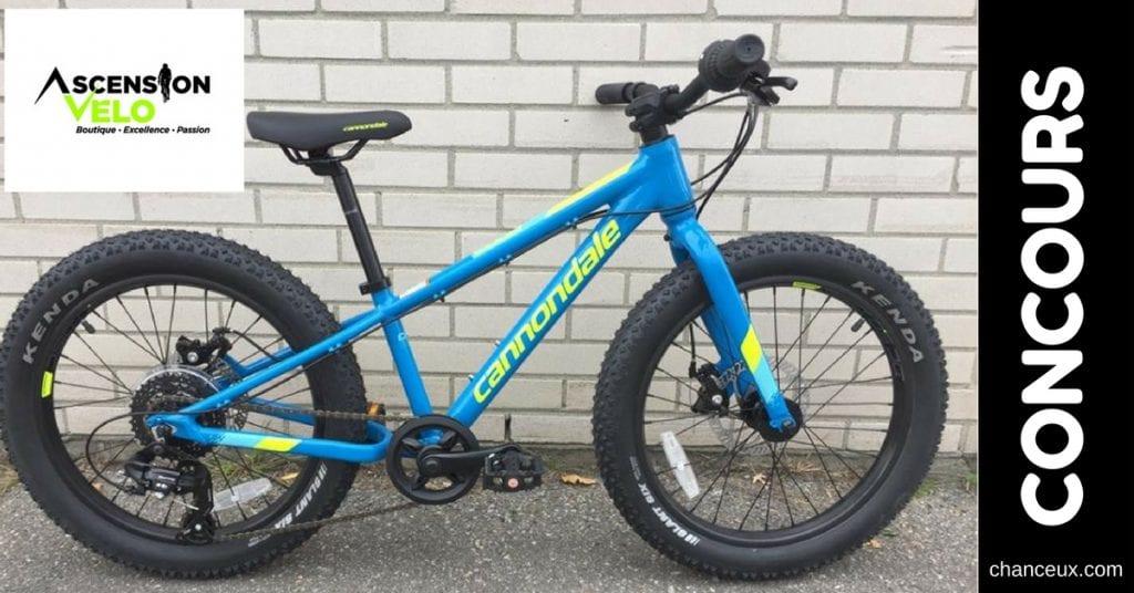 CONCOURS Gagnez Vélo Mini Fatbike Cannondale 20 pouces pour enfant