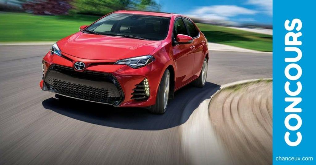 CONCOURS - Gagnez une Toyota Corolla 2018 en rouge Barcelone.