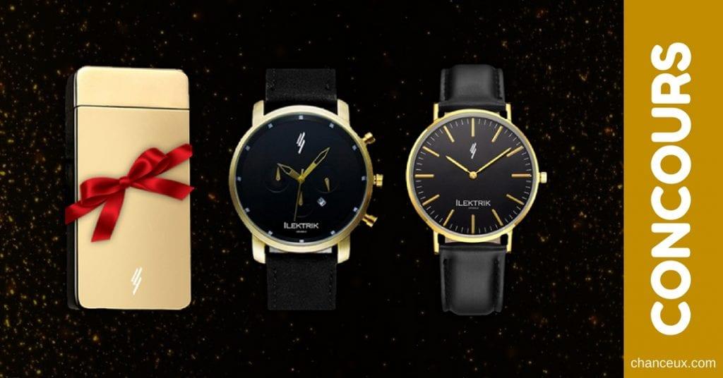 CONCOURS Gagnez une montre en or Ilektrik pour homme ou femme et plus!
