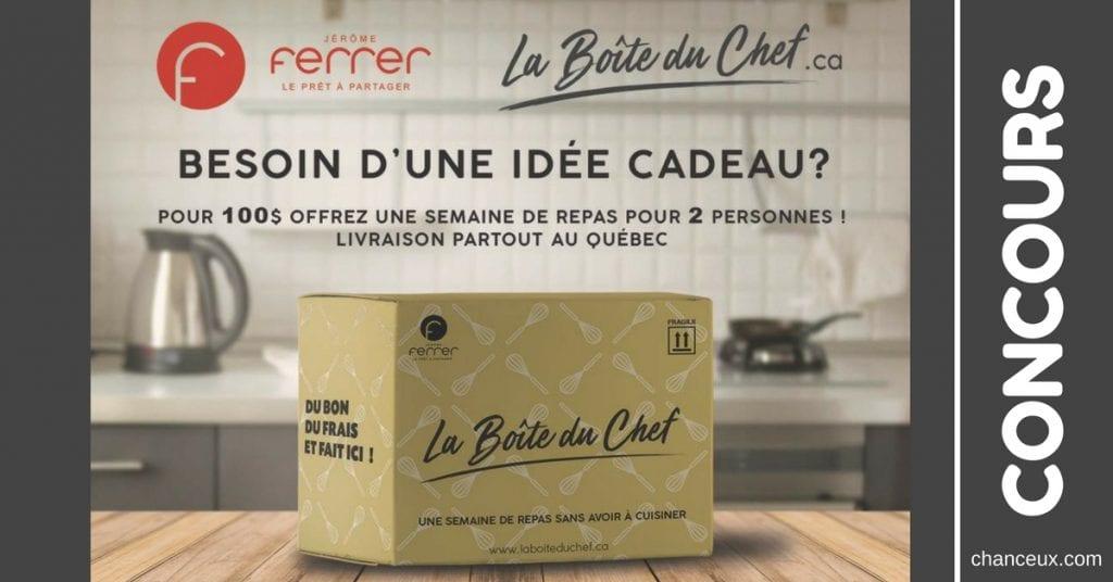 CONCOURS JÉRÔME FERRER DE LA BOÎTE DU CHEF