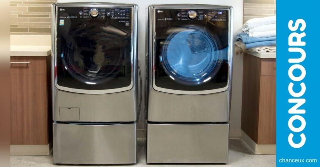 CONCOURS - Machine à laver à chargement frontal LG