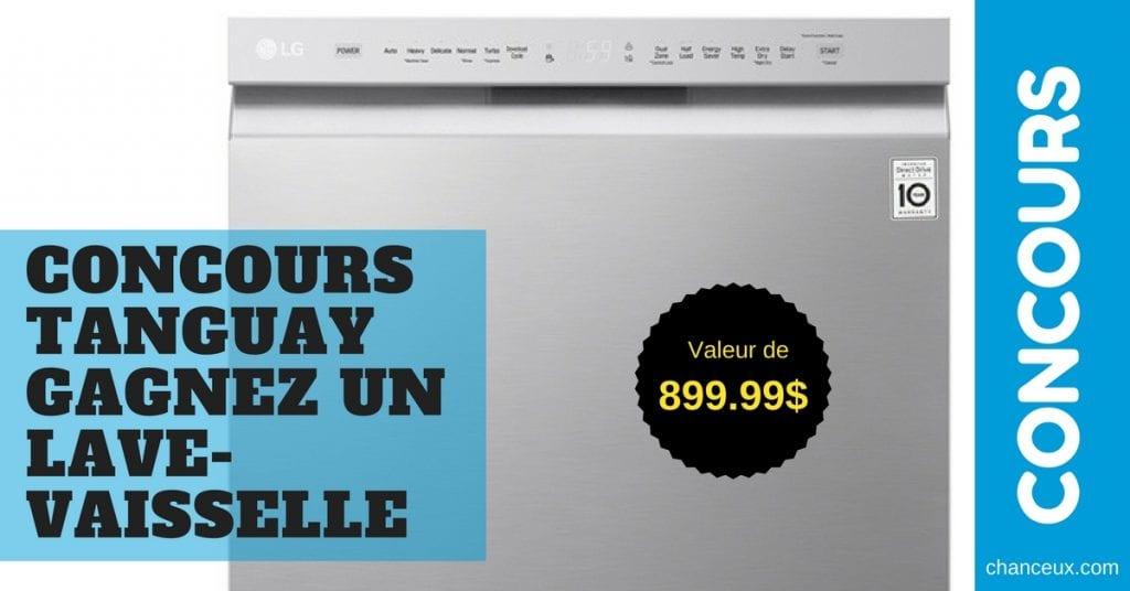CONCOURS TANGUAY Gagnez un lave-vaisselle LG
